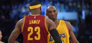 Kobe Bryant e LeBron James jamais se cruzaram em uma final da NBA