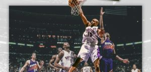 Vince Carter fez 51 pontos na vitória do Toronto Raptors sobre o Phoenix Suns em fevereiro de 2000