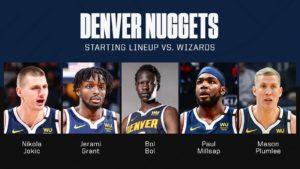 Denver Nuggets: escalação incomum para a volta da NBA