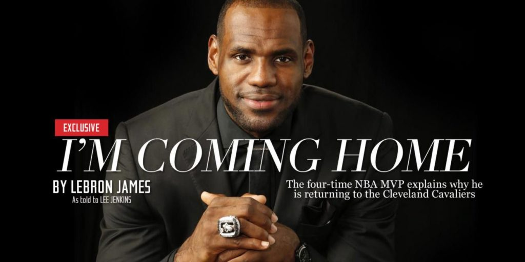 Texto na Sports Illustrted anunciou o destino de LeBron