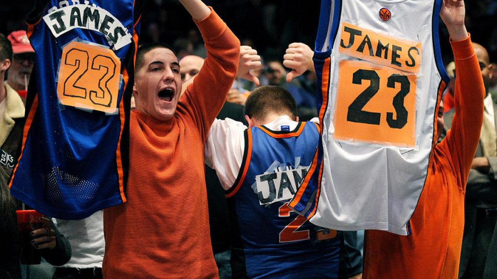 Torcida do Knicks alimentou o sonho de contar comLeBron James