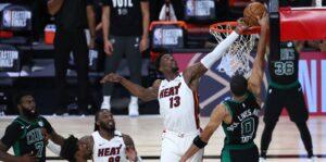 Bam Adebayo dá toco em cima de Jayson Tatum e garante vitória do Heat