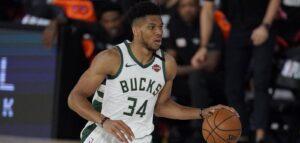 Giannis Antetokounmpo e o Milwaukee Bucks foram eliminados pelo Miami Heat na segunda rodada dos playoffs da NBA