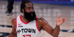 James Harden em ação pelo Houston Rockets